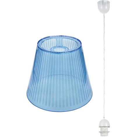 Plafonnier LED Lampe de cuisine Éclairage Chambre d'enfant Spot suspendu Bleu clair