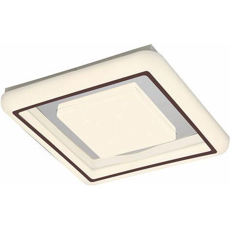 Plafonnier LED Lampe Éclairage Métal Chrome Sparkle Salon Chambre à Coucher