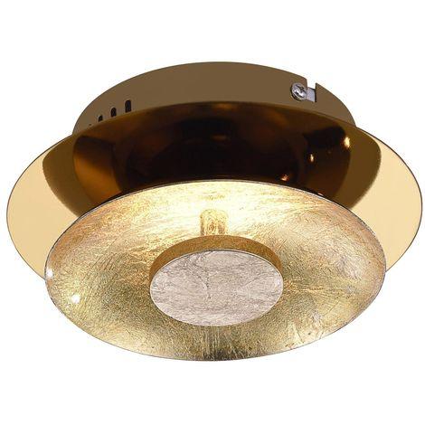 Plafonnier LED luminaire plafond DEL éclairage doré couloir salle de séjour chambre