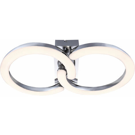 Plafonnier LED Pretty 30W Cuisine Chrome Acrylique Globo CORDOBA 42501-2