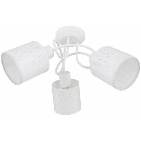 Plafonnier LED RGB intelligent cuisine arbre textile spot lumineux cocarde application vocale contrôlable via téléphone mobile