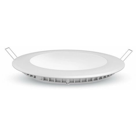 Plafonnier LED Rond 18W Extra Plat Équivalent 150W Dimmable - Blanc Naturel 4500K