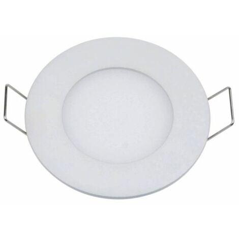 Plafonnier LED rond 3W 12V encastrable Ultra-fin blanc neutre