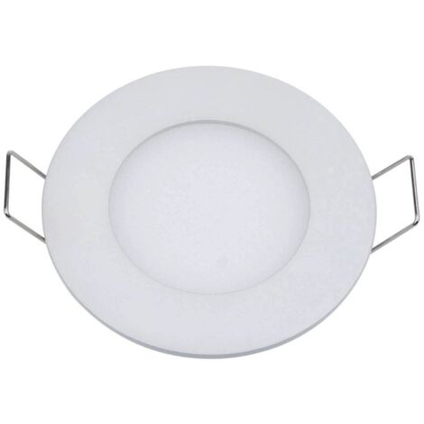Plafonnier LED rond 3W 12V encastrable Ultra-fin blanc neutre