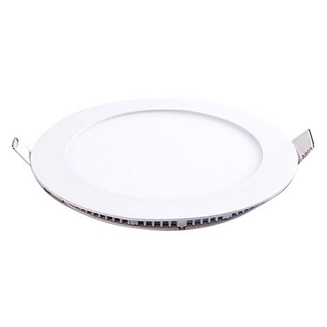 Plafonnier LED rond 6W 12V encastrable blanc chaud