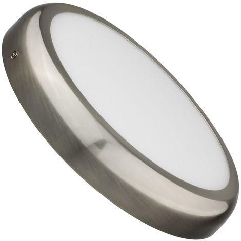 Plafonnier LED Rond Design 24W Silver Downlight