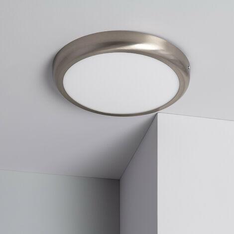 Plafonnier LED Rond Design 24W Silver Downlight Blanc Neutre 4000K - 4500K
