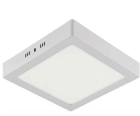 Plafonnier LED saillie carré blanc 18W (Eq. 144W) 3000K Dim. 211x28mm