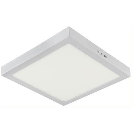Plafonnier LED saillie carré blanc 28W (Eq. 224W) 3000K Dim. 283x28mm