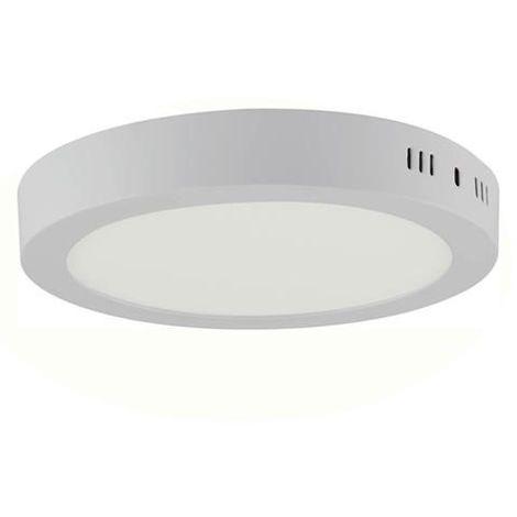 Plafonnier LED saillie rond blanc 18W (Eq. 144W) 4200K Diam. 210mm