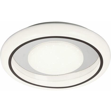 Plafonnier LED salle à manger effet étoile lumière blanc rond spot anneau chromé Globo 41294-36R