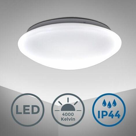 Plafonnier LED salle de bain rond éclairage salle de bain luminaire IP44 lampe chambre cuisine couloir