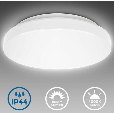 """main image of """"Plafonnier LED salle de bains rond ultra-plat IP44 Ø33cm platine LED 18W éclairage plafond cuisine couloir chambres"""""""