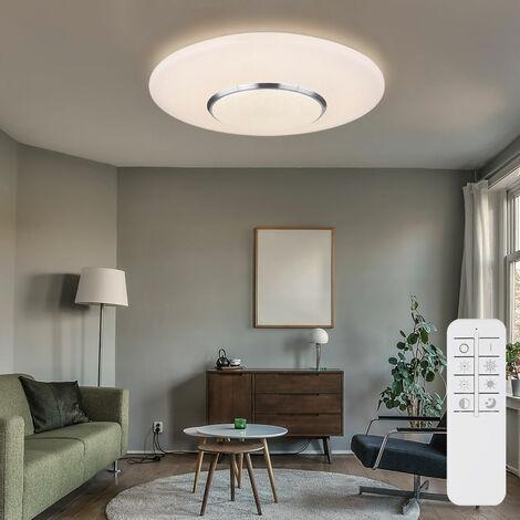 Plafonnier LED salon projecteur dimmable télécommande CCT lampe en cristal de lumière du jour