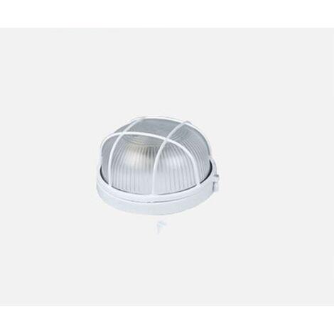 Plafonnier LED Sauna Lampe étanche à l'humidité Ronde Sous-sol Garage Atelier Entrepôt Dépoussiérage Lampe Arbre Lampe Salle De Bains Sauna Plafonnier Applique (Coquille Blanche (Sans Ampoule) (Petit Cercle)