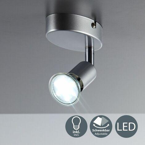 Plafonnier LED spot plafond salon orientable GU10 métal lustre plafond 1 spot