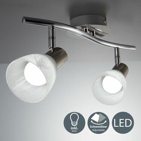 Plafonnier Led Spots En Verre Luminaire Salon Orientable E14