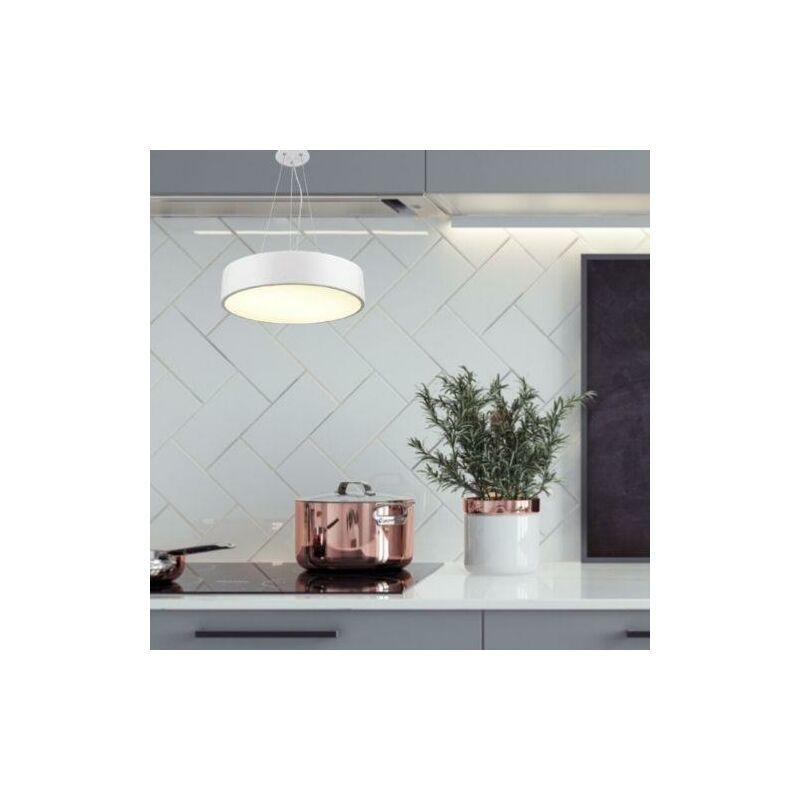 Plafonnier LED suspendu Blanc 30W - Blanc Chaud 3000K - Silamp