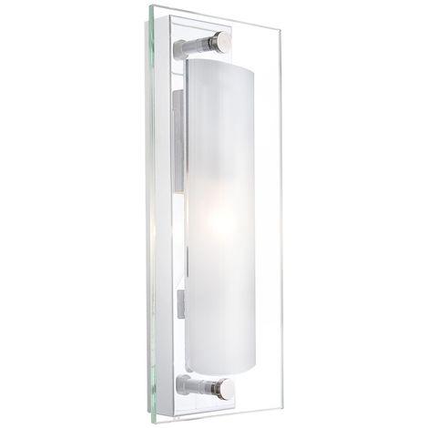 Plafonnier luminaire plafond verre clair satiné applique couloir salle de séjour éclairage