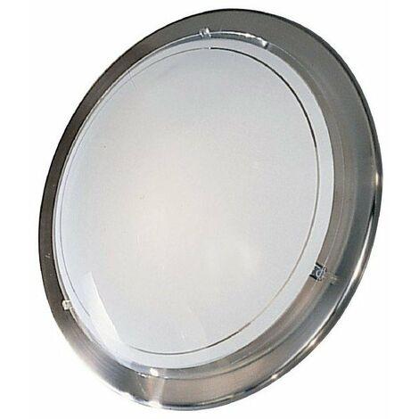 Plafonnier metal/verre nickel