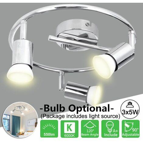 Plafonnier moderne lustre réglable suspendu industriel blanc 6000K pour la chambre à coucher AC85-265V (sans ampoules)