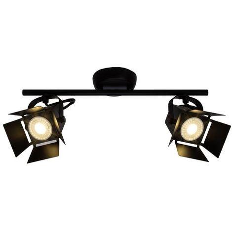 Plafonnier MOVIE LED 2x5W GU10 NOIR DEPOLI