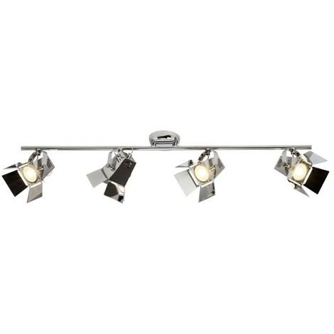 Triple Dimmable GU10 Plafonnier Spotlight réglable en chrome brossé