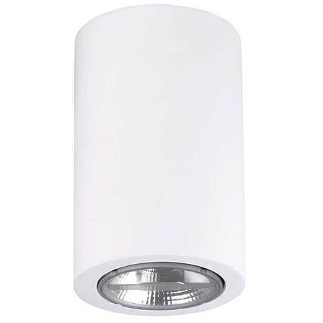 Plafonnier plâtre Ges H11 cm - Blanc - Blanc
