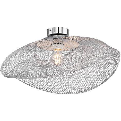 Plafonnier salle à manger éclairage cuisine tresse chromée dans un ensemble avec éclairage LED