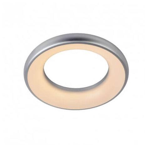 Plafonnier salle de bain design Rondell LED D40 cm - Gris - Argent ...