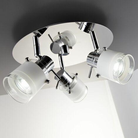 Plafonnier salle de bain LED éclairage lampe plafond sdb ...