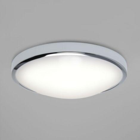 Plafonnier salle de bain Osaka LED D31,2 cm IP44 - Chrome ...