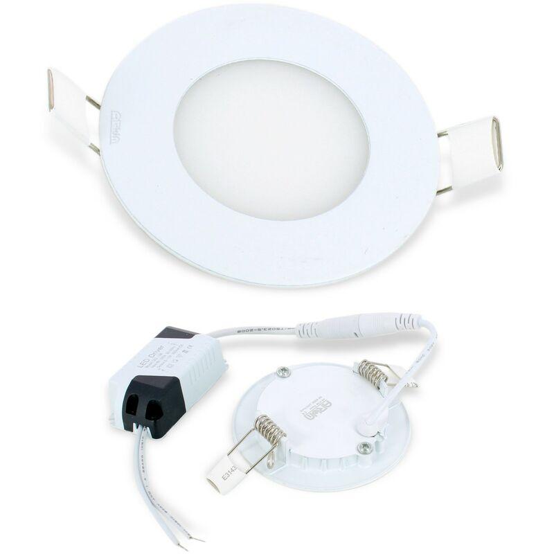 plafonnier spot encastrable led ultra slim rond 3w blanc. Black Bedroom Furniture Sets. Home Design Ideas