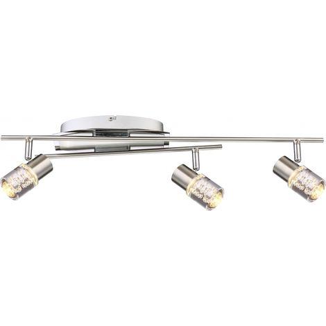 Plafond Nickel D'air Mat Spots Del Bulles Chrome Lampe Led Plafonnier Luminaire VzMSUpGq