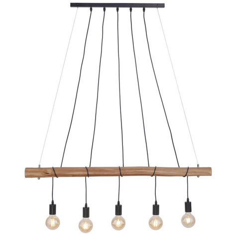 Plafonnier suspendu poutre en bois dimmable suspension TÉLÉCOMMANDE dans un ensemble avec éclairage LED RGB