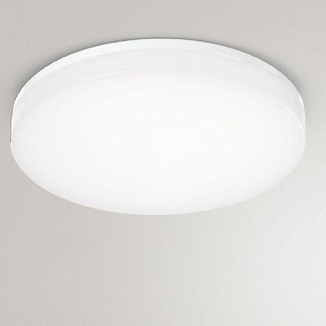 Plafonnier synthétique gea led gpl221 led lampe dimmable plafond intérieur extérieur 33cm 24w 2050lm ip44