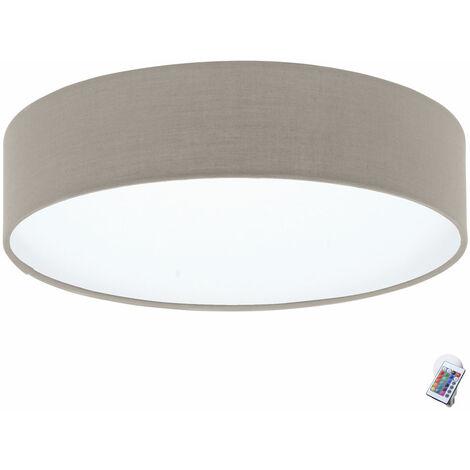Plafonnier taupe salon salle à manger télécommande projecteur dimmable dans l'ensemble y compris les ampoules LED RGB
