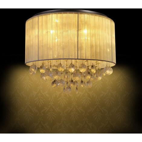 plafonnier Triton Crystal lampe de salle de séjour (4 x G9 socle) LED rond plafonnier Ø 43 cm cristal salle de séjour
