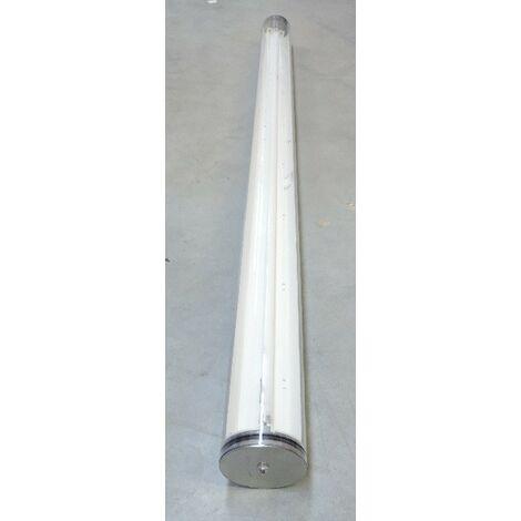 Plafonnier tubulaire étanche fluo 1x35W L1618mm Ø 112mm 4000K 3300lm avec ballast ferro EB 230V IK10 IP68 Sylproof Tubular