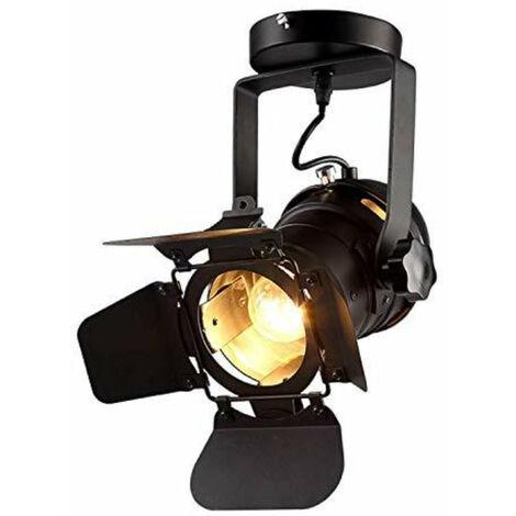 Plafonnier Vintage Projecteur E27 Spot Lumière Spot Industriel Mur/Plafonnier Réglable En Métal Luminaire Pendant (Fixed)