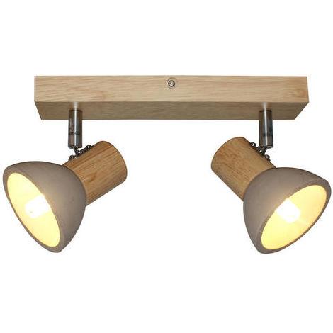 Plafonniers 2 lampes design Lo design Kira Beige Bois LO00021585