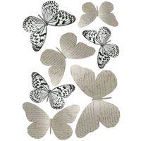 7/Butterflies Between 8/x 6,5/cm And 14/x 11/cm 14/x 0.1/x 11/cm Pink PLAGE 3D Charming Butterfly Stickers Decoration Liberty Trasparente plastica 7/unit/à