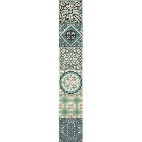 PLAGE Sticker déco carrelage - Carreaux Evora6 planches 15 x 15 cm