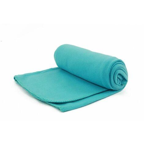 ARTIC - Plaid en polaire bleu avec petit sac de rangement 130x170 - Bleu