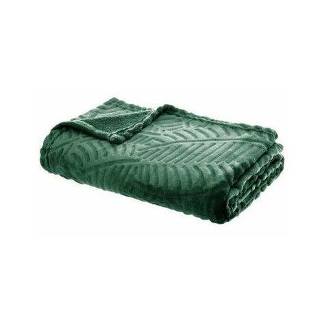 Plaid feuille - 125 x 150 cm - Vert