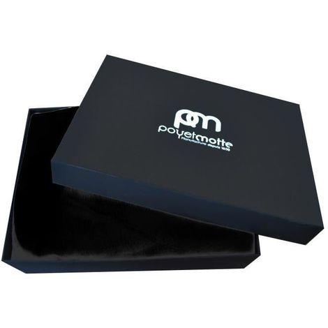 Plaid Microflanelle - 130x170cm - Noir - Boite Cadeau