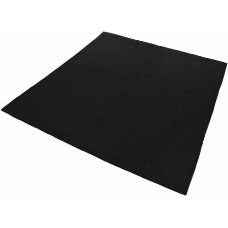 Plaid polaire noir 220 x 240 cm - Noir