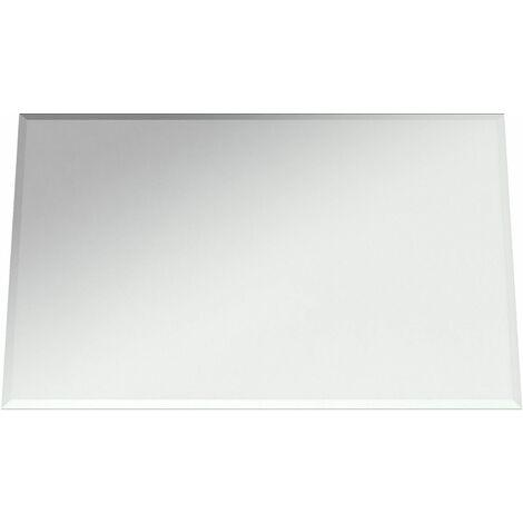 Plain Bathroom Mirror Modern Rectangle Bevelled Edge Wall Mounted 450x300mm