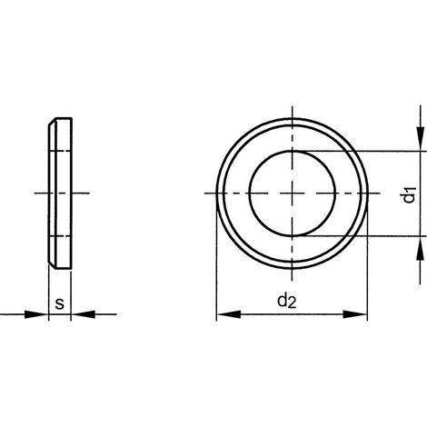 Plain Edge Flat Washers, Metric Form A - Mild Steel - BZP - DIN 125-1B / BS 4320
