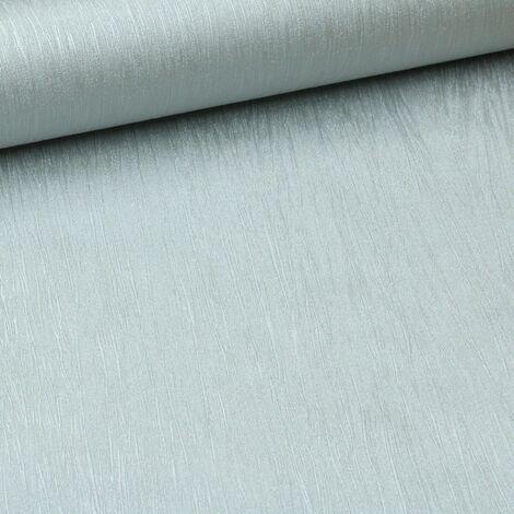 Plain Metallic Silver Grey Shimmer Textured Thick Free Match Vinyl Wallpaper